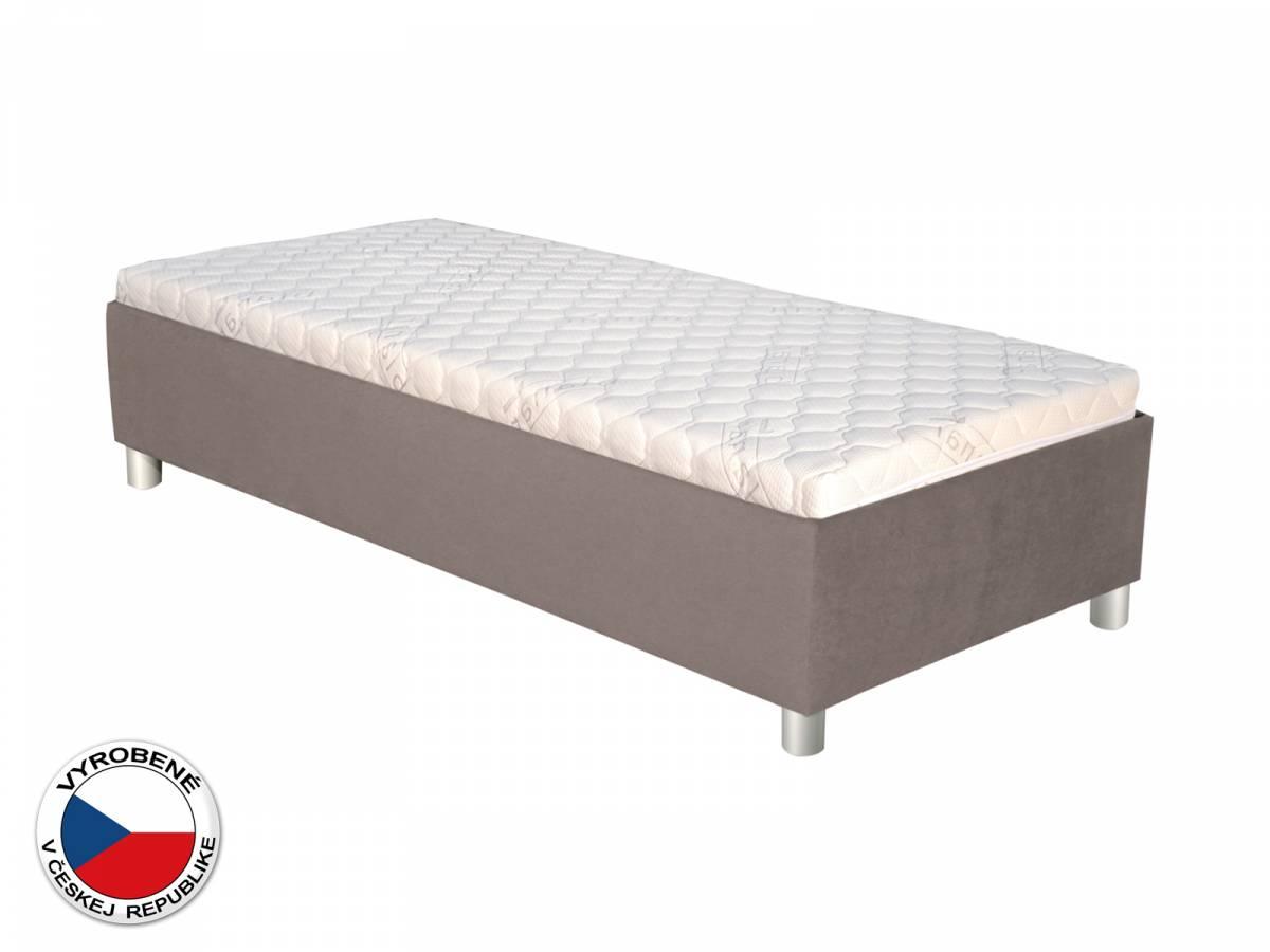 Jednolôžková posteľ 90 cm Blanár Neptun (sivá) (s roštom)