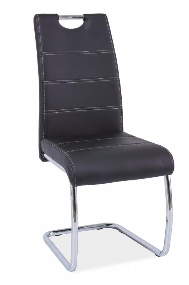 Jedálenská stolička HK-666, čierna
