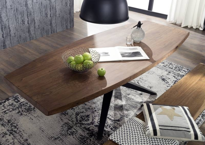 Bighome - PURE NATURE Jedálenský stôl 210x100 cm, lakovaná akácia