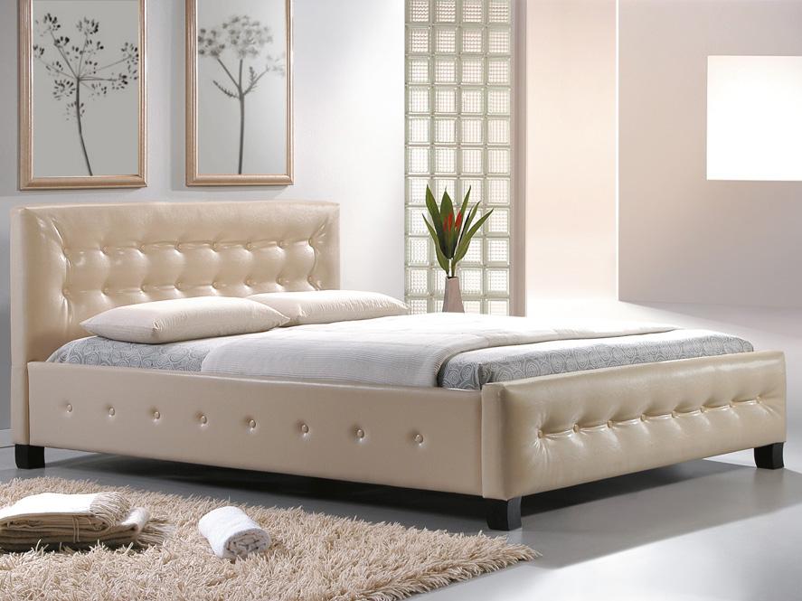 Manželská posteľ 160 cm Barcelona krémová (s roštom)