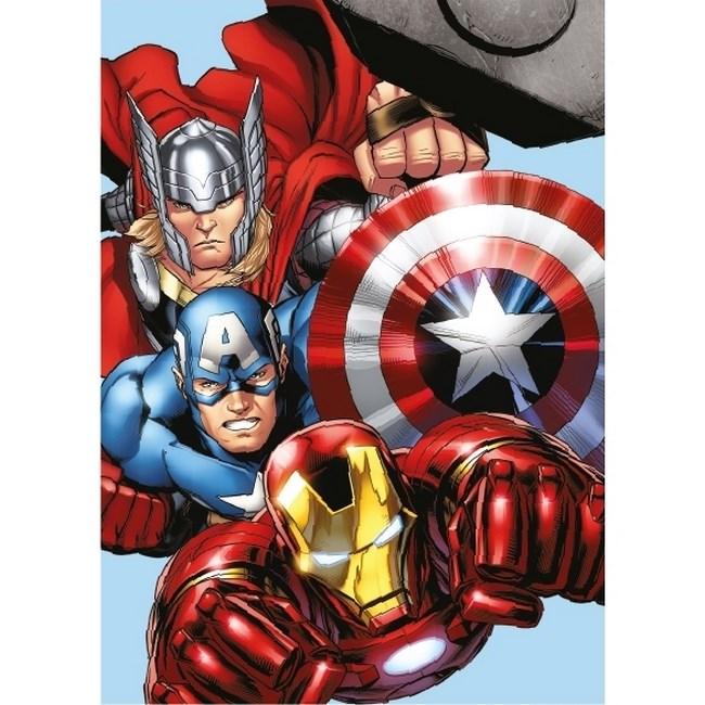 Jerry Fabrics Detská deka mikroplyš Avengers, 100 x 140 cm