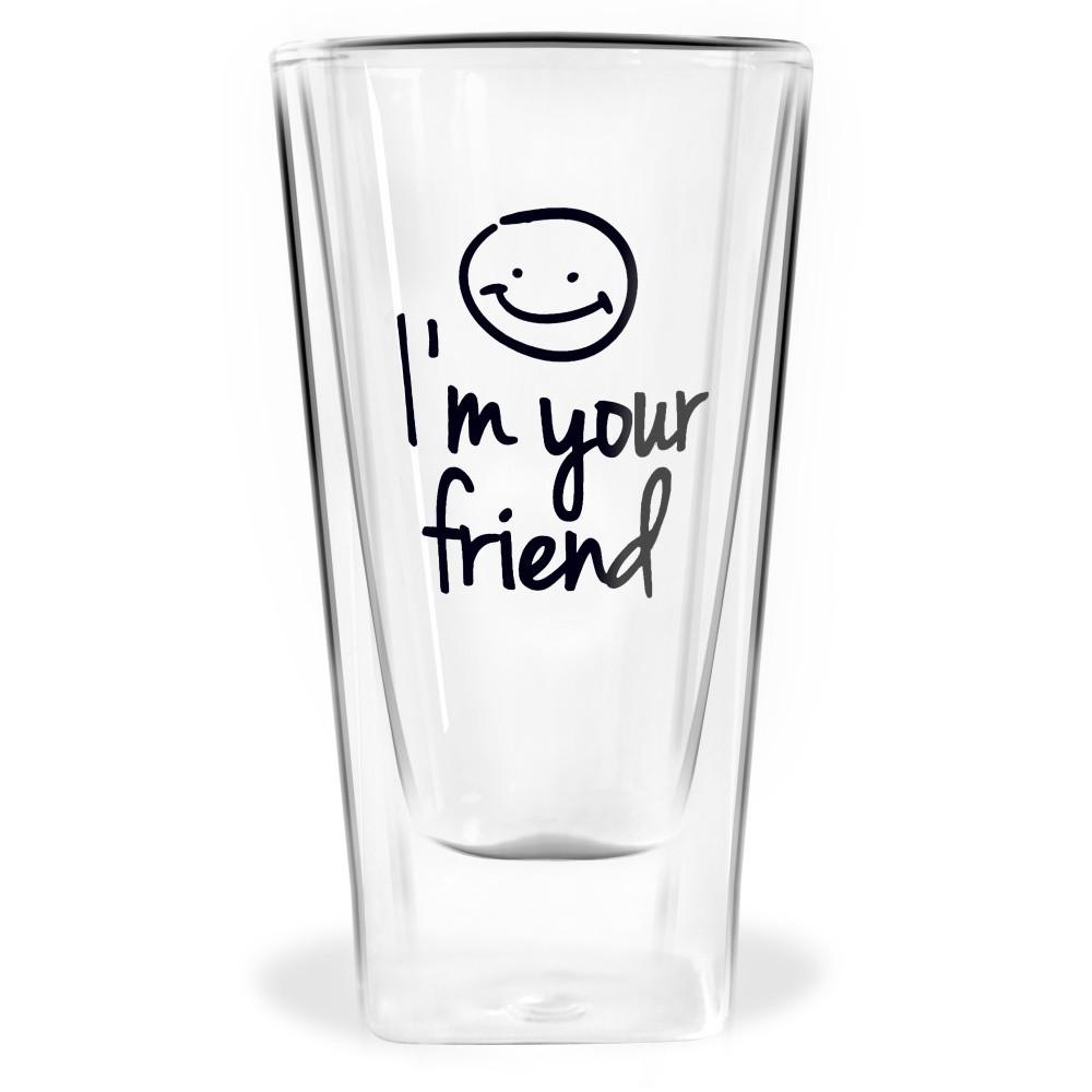 Dvojitý pohár Vialli Design Im Your Friend, 300 ml