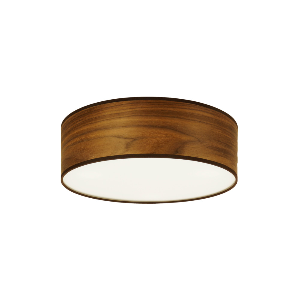 Stropné svietidlo vo farbe orechového dreva Sotto Luce Tsuru, orech, Ø 30 cm