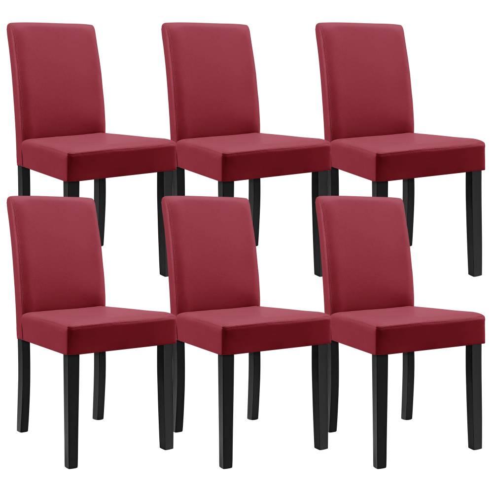 1280b06552d35 [en.casa]® Sada štýlových čalúnených stoličiek - 6 ks - tmavo červené