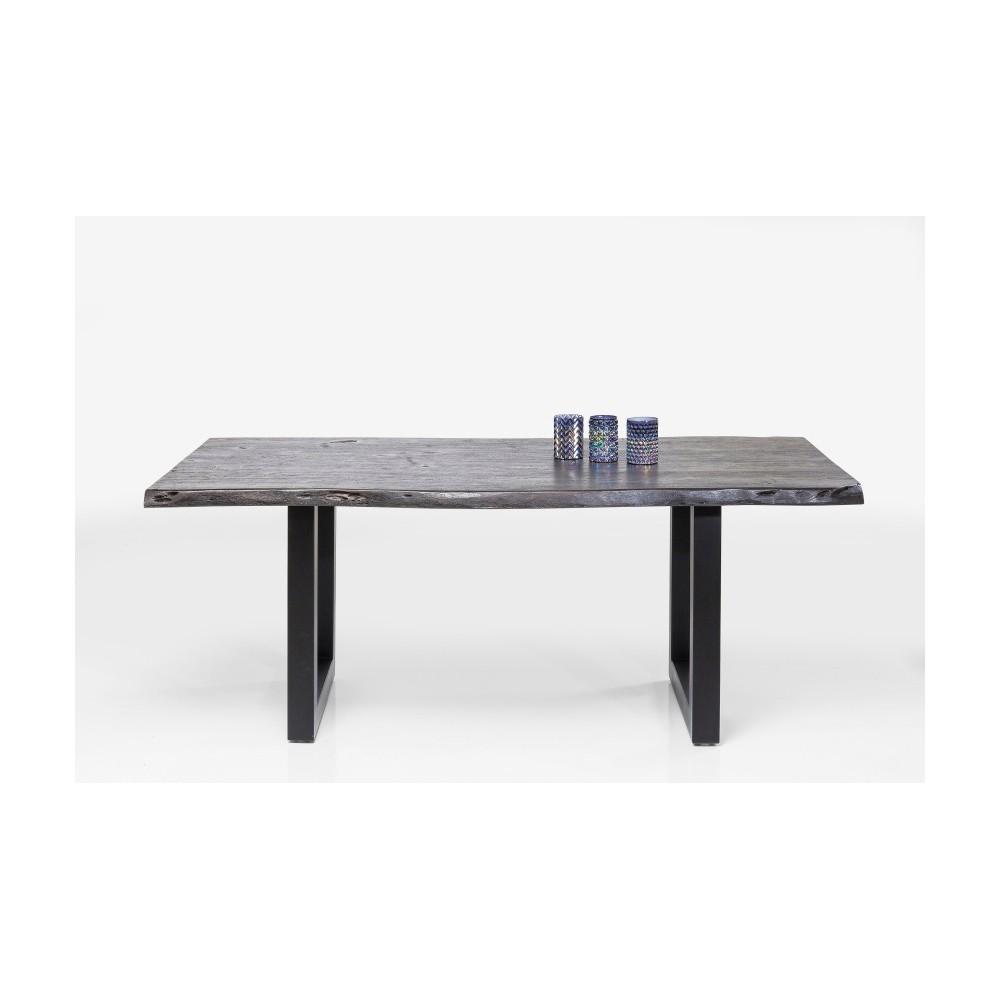 Čierny jedálenský stôl z akáciového dreva Kare Design Nature, 195 × 100 cm