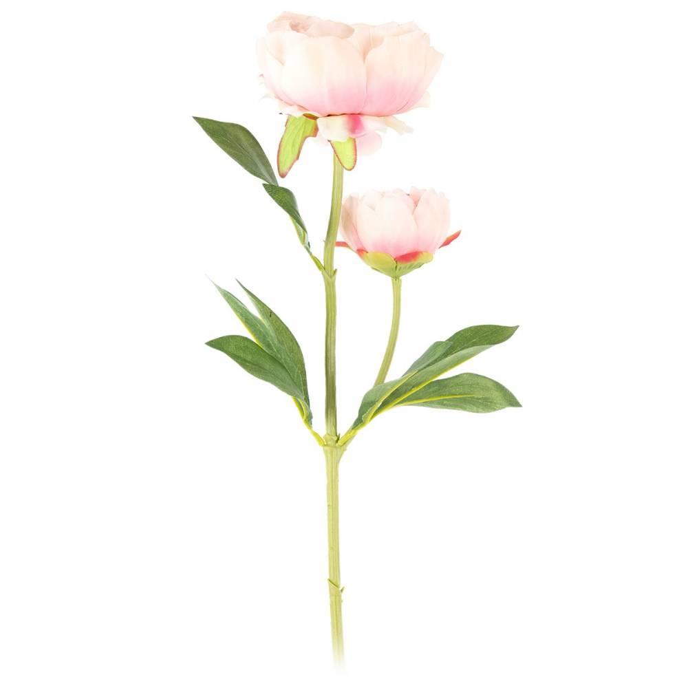 Umelá kvetina Pivonka svetloružová, 58 cm
