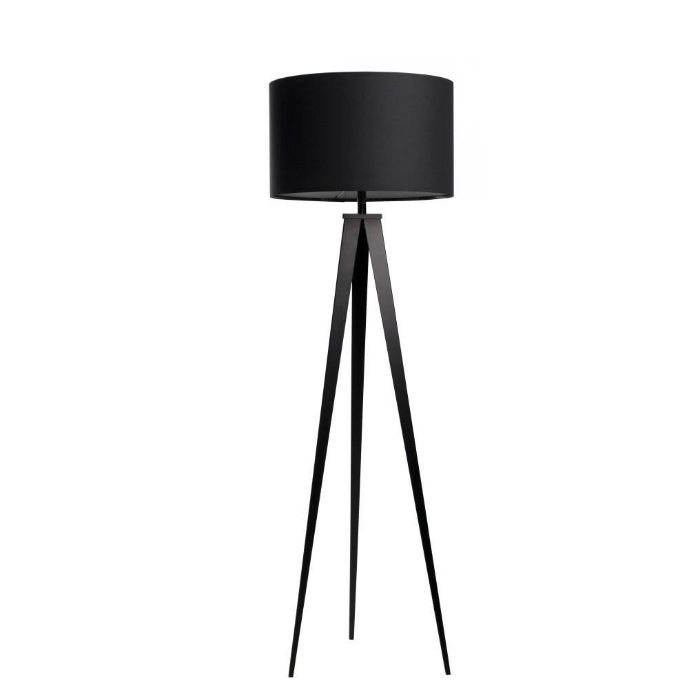 Čierna stojacia lampa Zuiver Tripod
