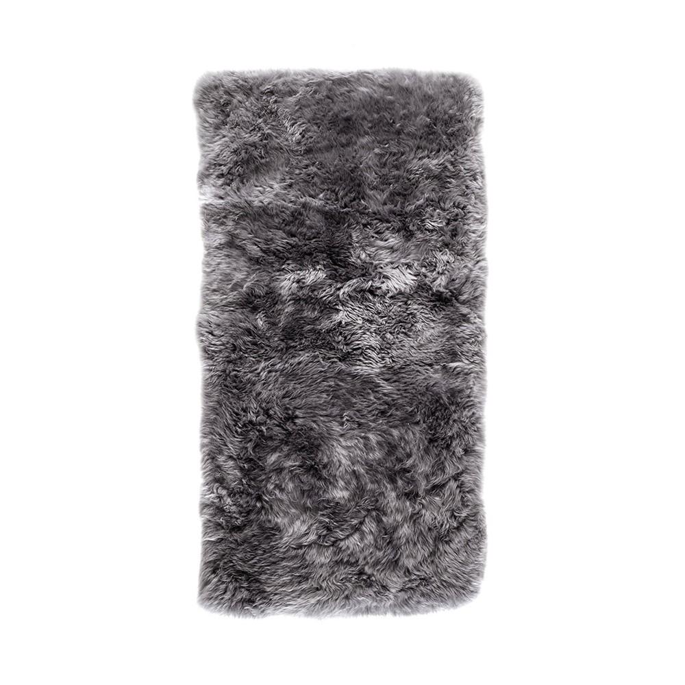 Sivý obdĺžnikový koberec z ovčej vlny Royal Dream Zealand