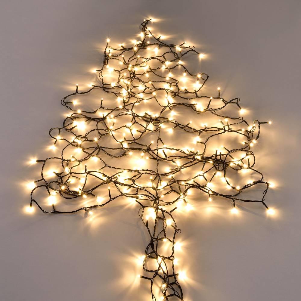 [in.tec]® Vianočná svetelná reťaz - teplá biela - 120 LED - 14 m
