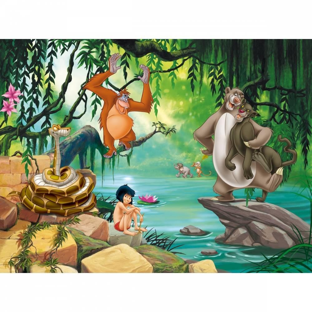 AG Art Detská fototapeta XXL Kniha džunglí 360 x 270 cm, 4 diely