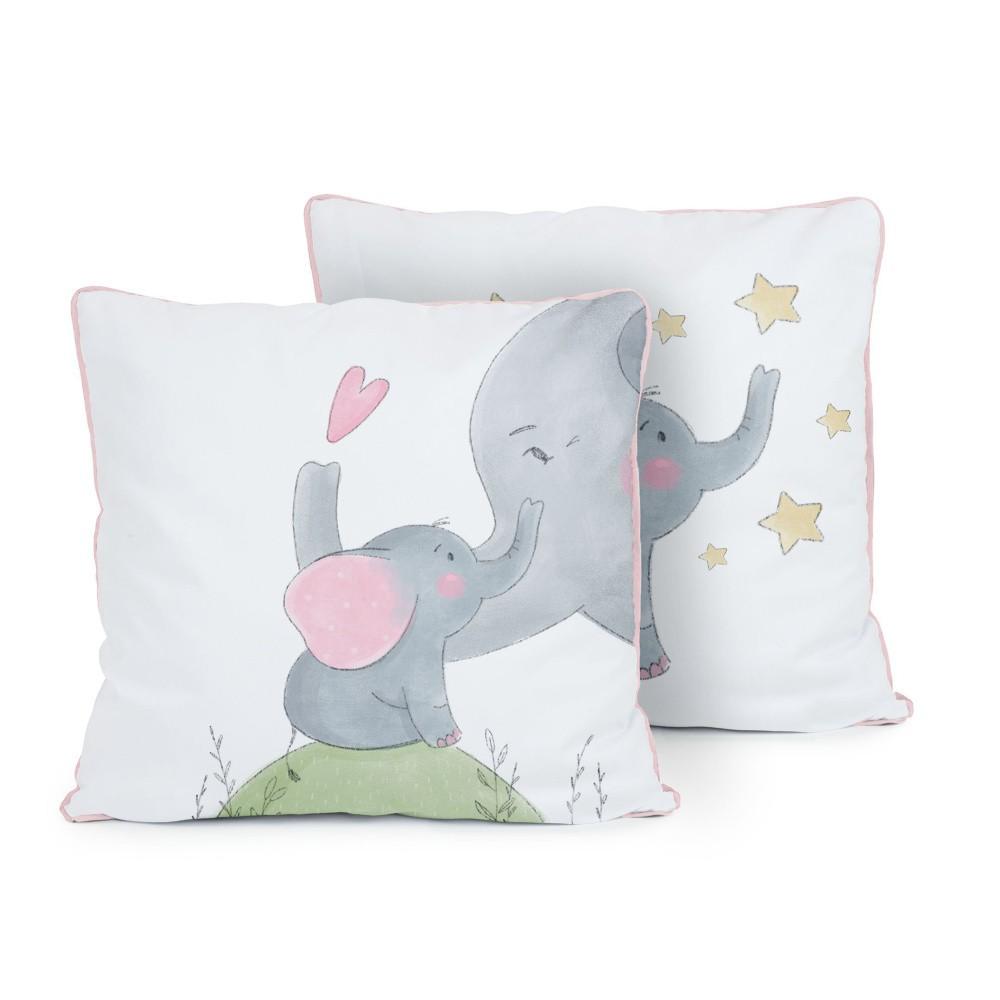 Obojstranný vankúš Tanuki Love Elephants, 50×50cm