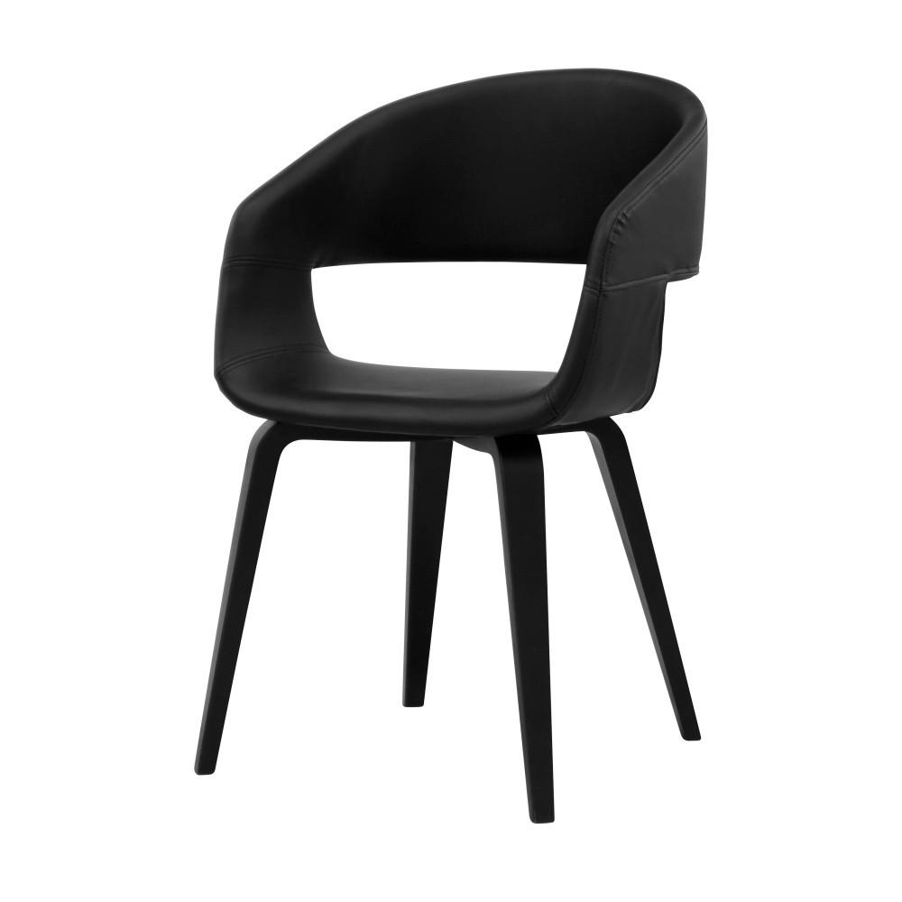 Čierna jedálenská stolička Interstil Nova Poplar