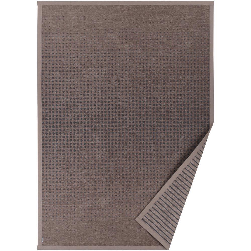 Hnedý vzorovaný obojstranný koberec Narma Helme, 140x200cm