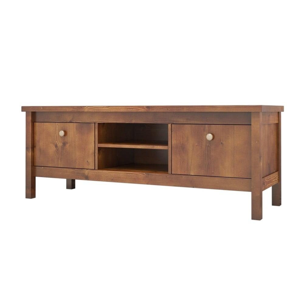 TV stolík z borovicového dreva Ratto Roma Walnut, délka 140 cm