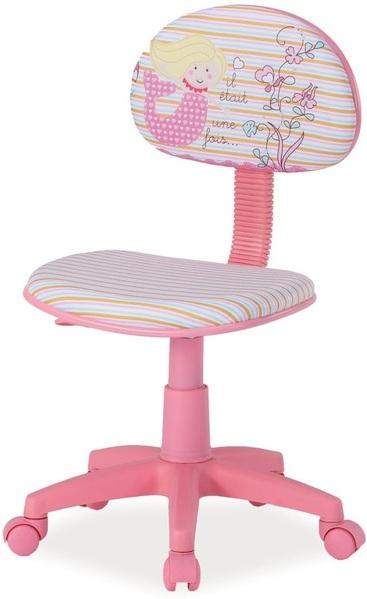 038fe90d9232 Detská stolička HOP Prevedenie  TYP 1 ružová látka   vzor víla