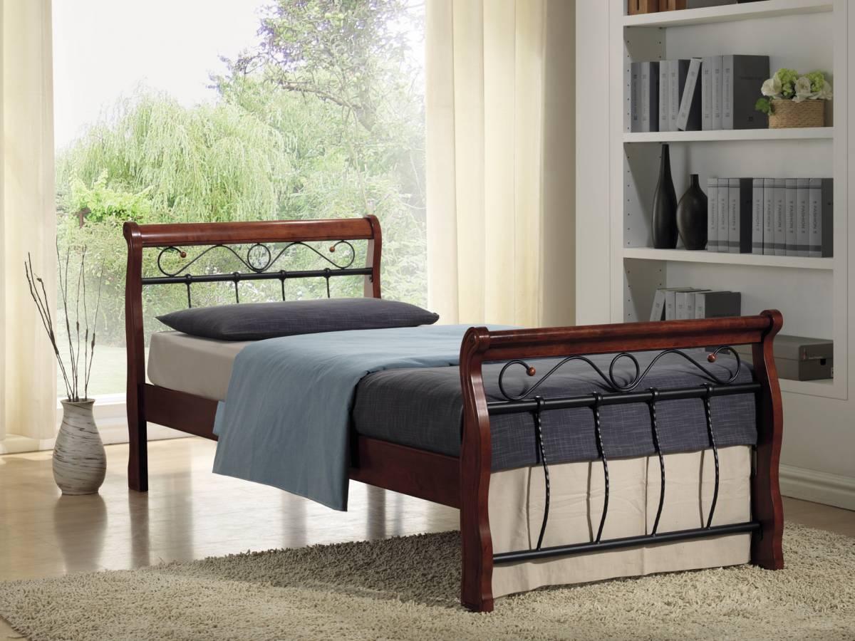 Jednolôžková posteľ 120 cm Venecja (s roštom)