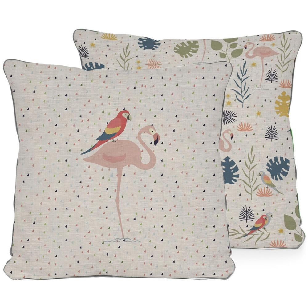 Obojstranný vankúš Little Nice Things Flamingo
