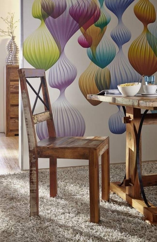 SPIRIT stolička #26 lakované staré indické drevo