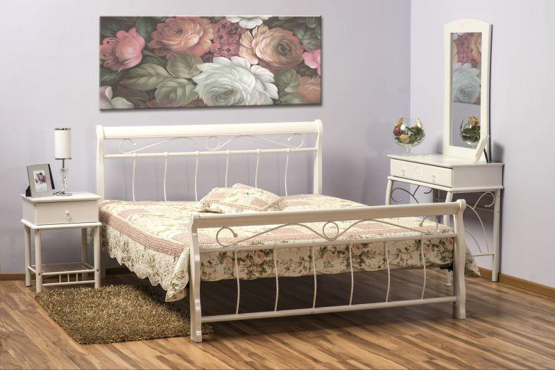 SIGNAL VENECJA BIS 90 posteľ s roštom - biela