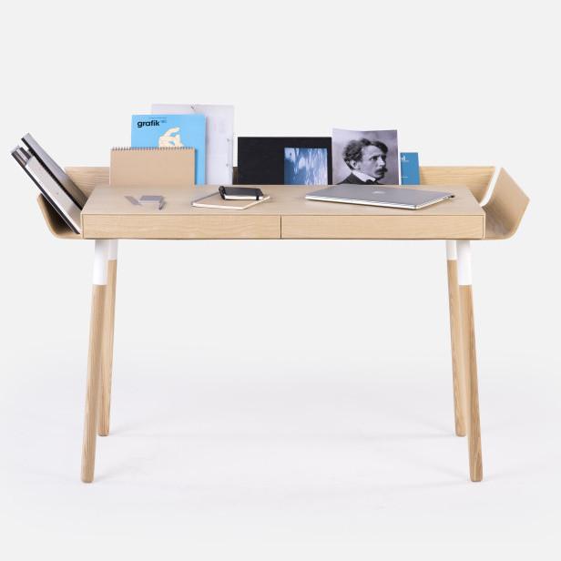 Prírodný písací stôl Emko My Writing, 2 zásuvky