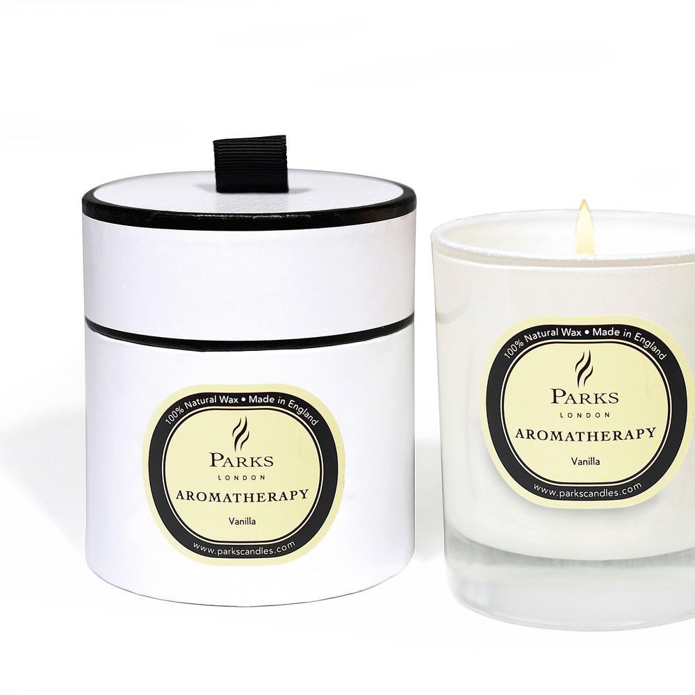 Sviečka s vôňou vanilky Parks Candles London Aromatherapy, 45 hodín horenia