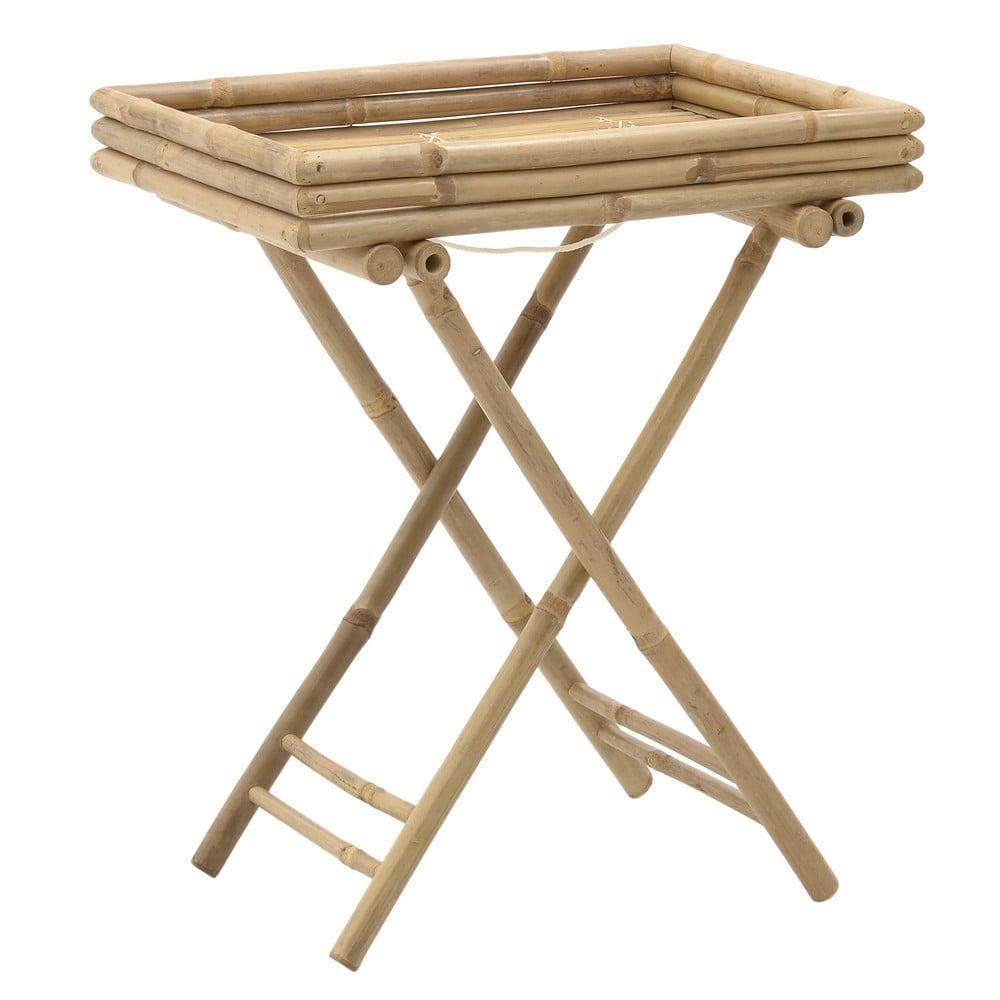 Bambusový stolík s podnosom InArt Bamboo