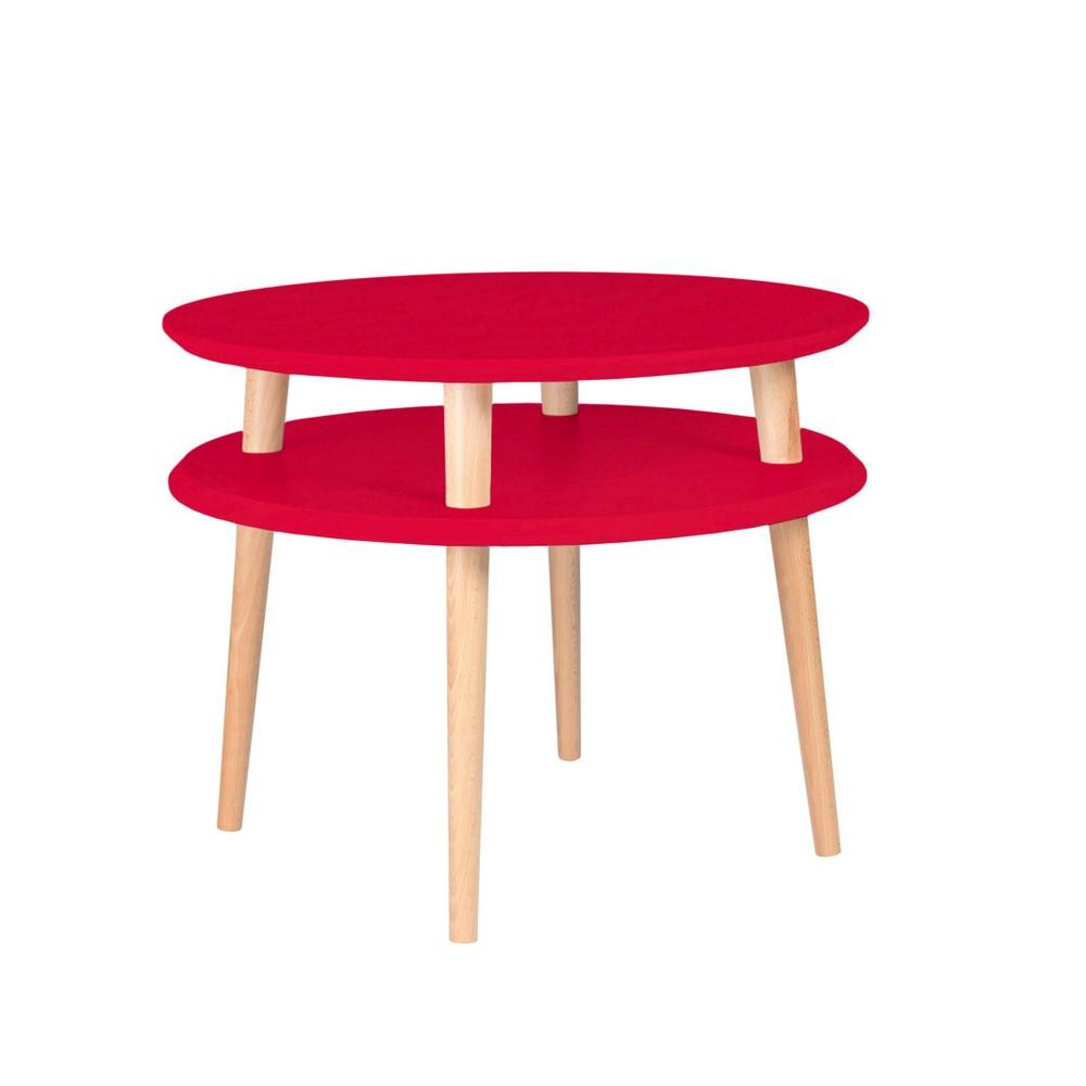 Červený konferenčný stolík Ragaba Ufo, ⌀57 cm