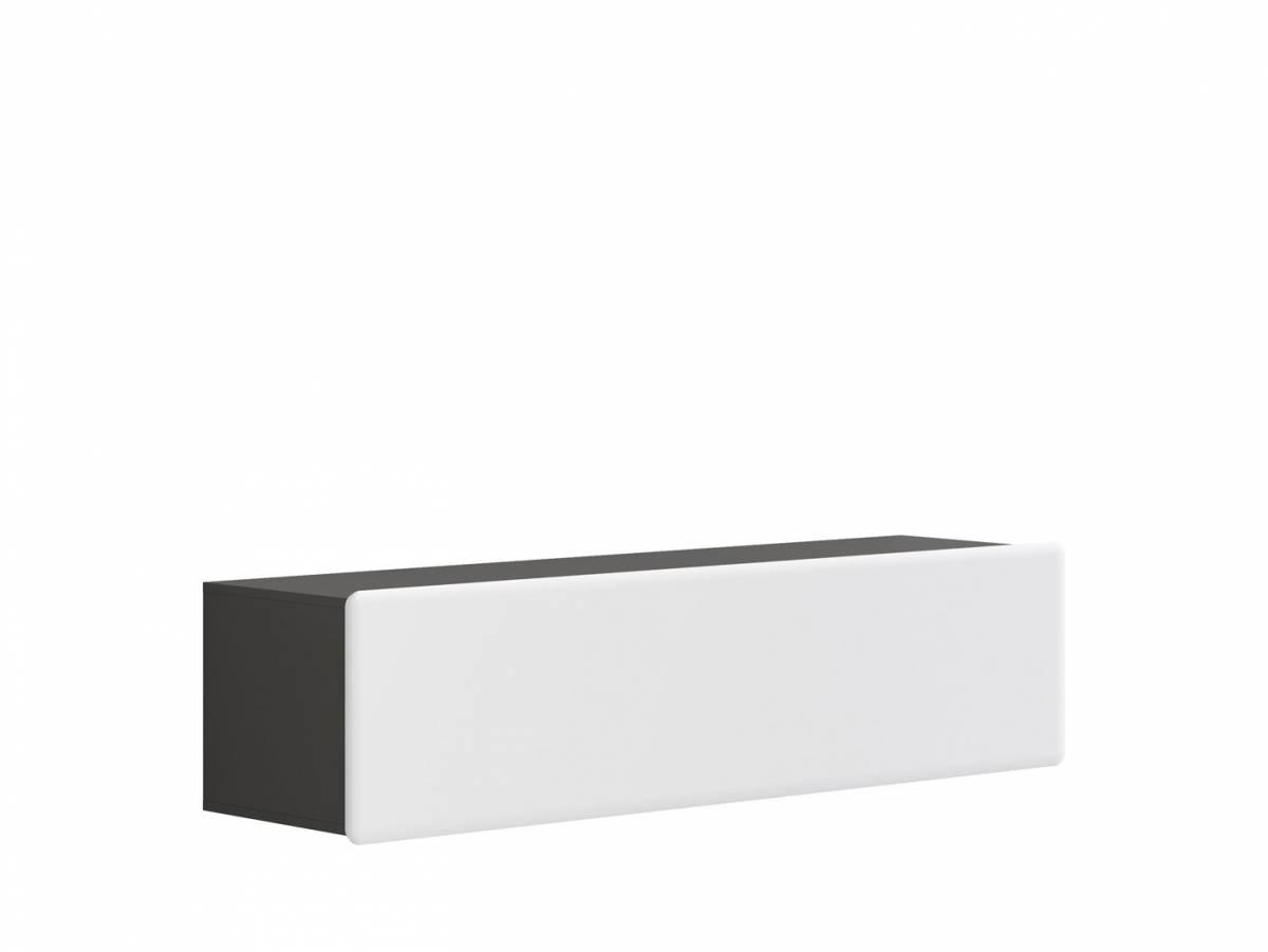 TV stolík/skrinka Possi Light RTV1K 4/16 (sivý wolfram + lesk biely)