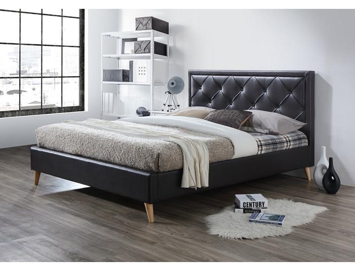 Manželská posteľ 180 cm Puffie (s roštom)