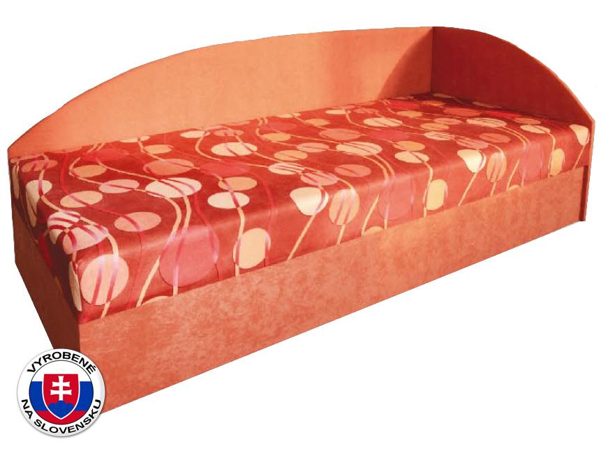 Jednolôžková posteľ (váľanda) 80 cm Marta (s pružinovým matracom) (P)