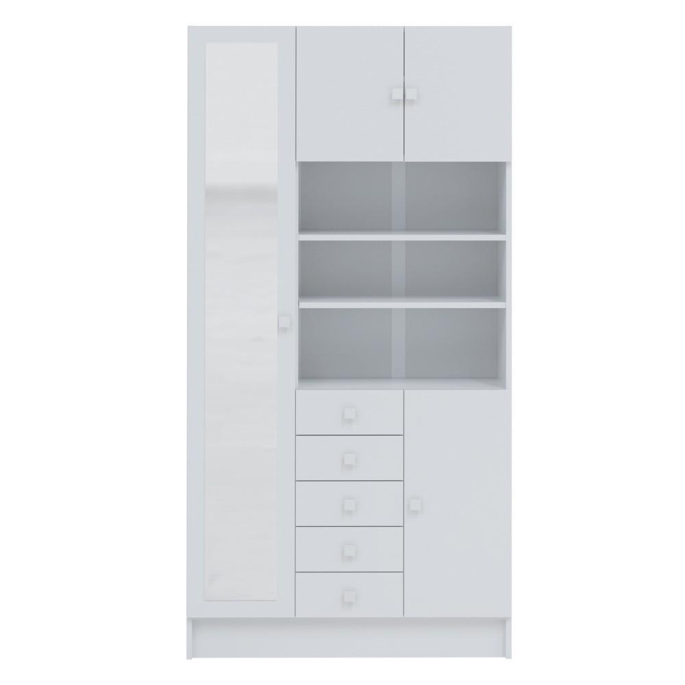 Biela kúpeľňová skrinka Symbiosis André, šírka 90cm