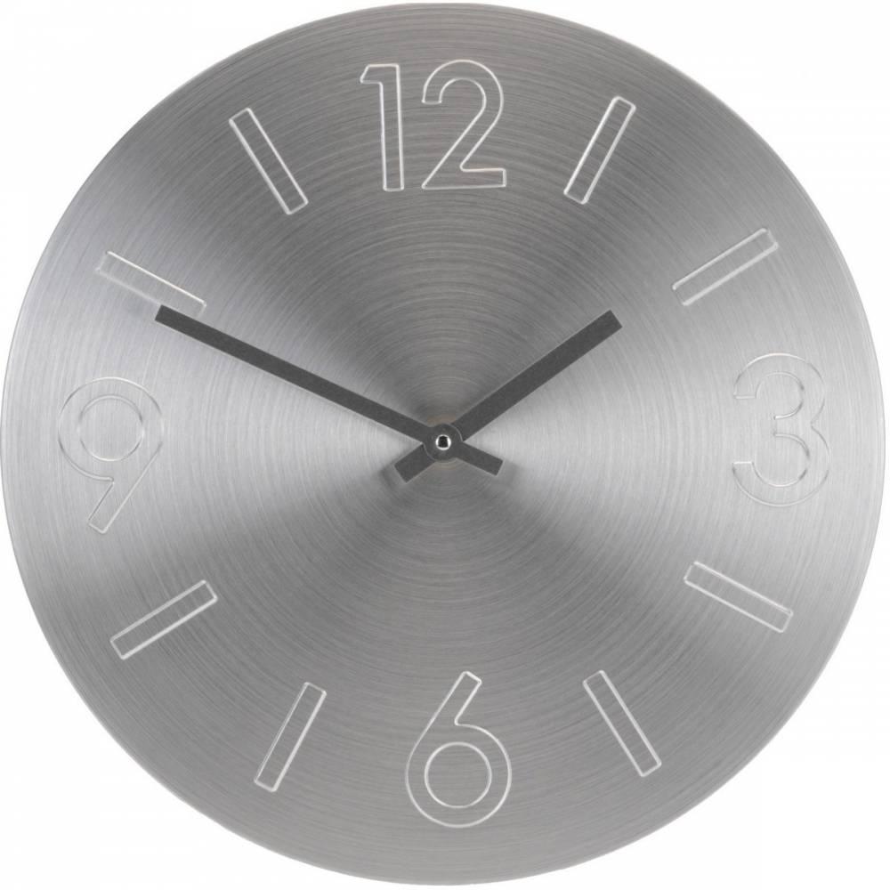 Nástenné hodiny Atlanta strieborná, 35 cm