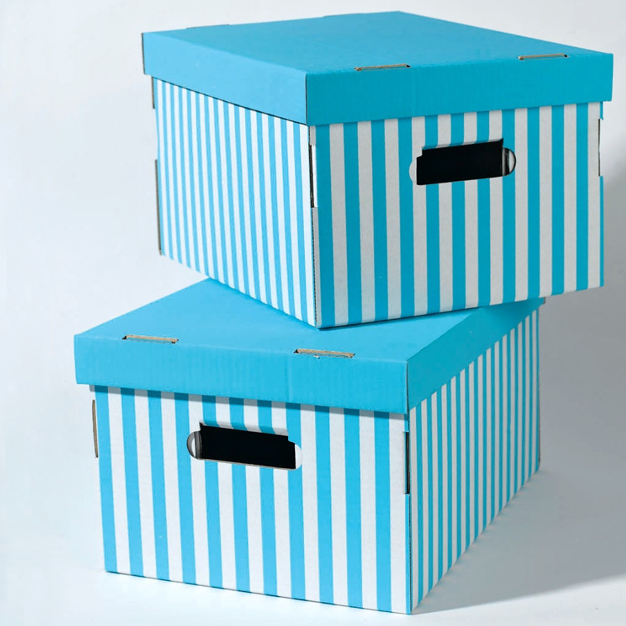 Sada 2 modrých úložných krabíc Compactor Aqua