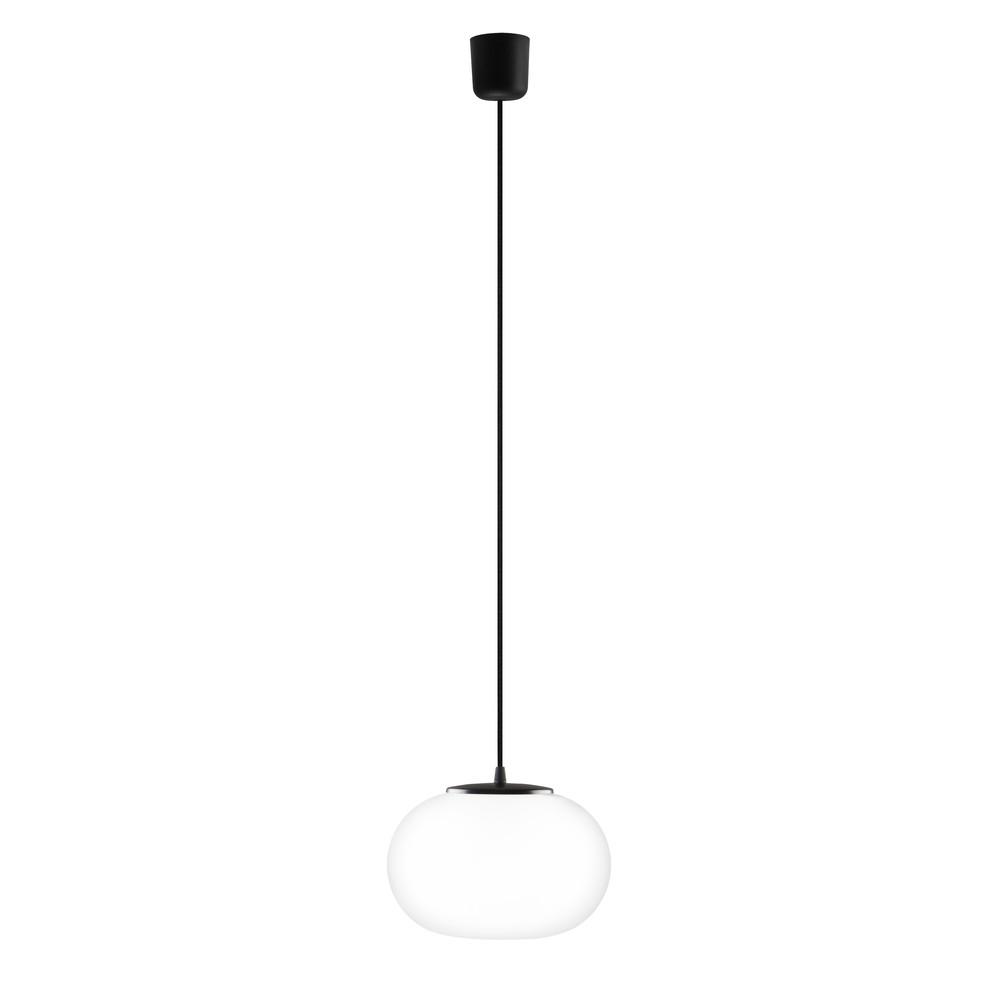 Bielo-čierne svietidlo s čiernym káblom a čiernou objímkou Sotto Luce Dosei