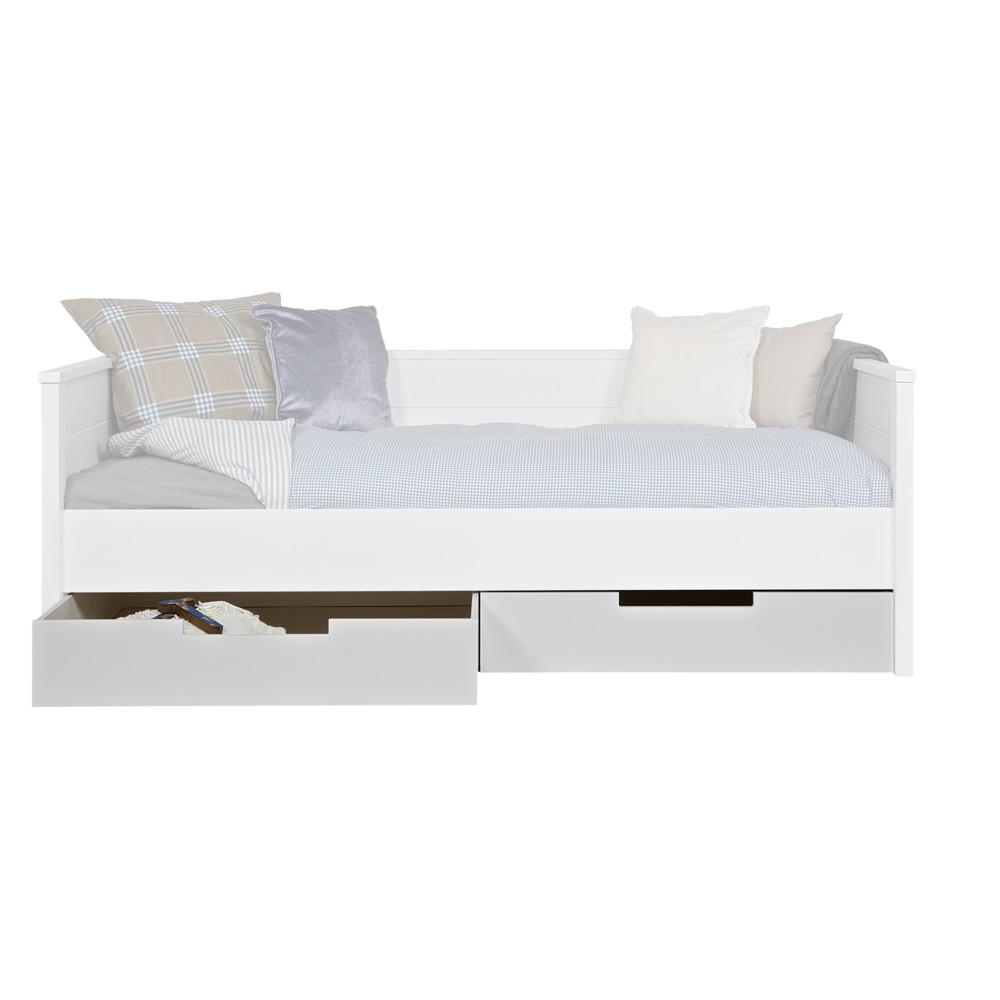 Biela zásuvka pod posteľ DeEekhoorn Jade