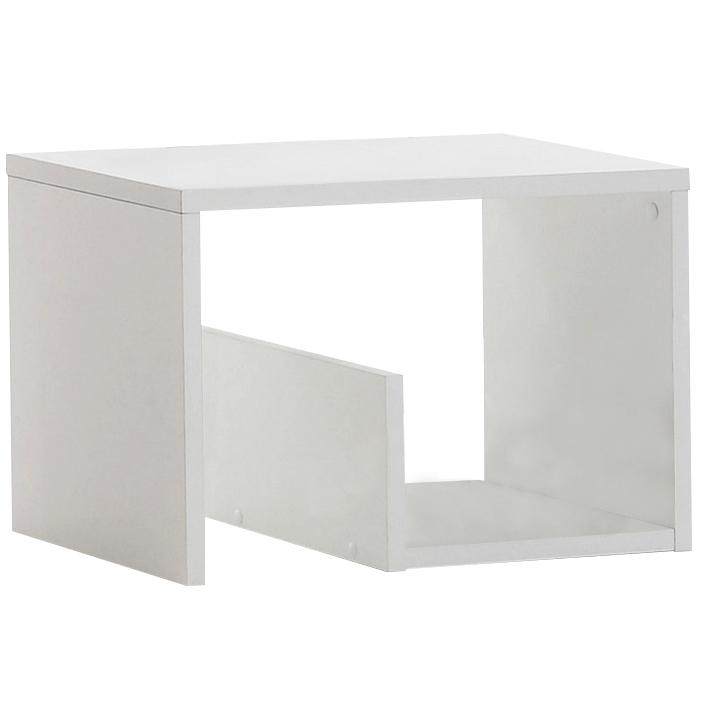 TEMPO KONDELA Príručný stolík, biela, VOLKER