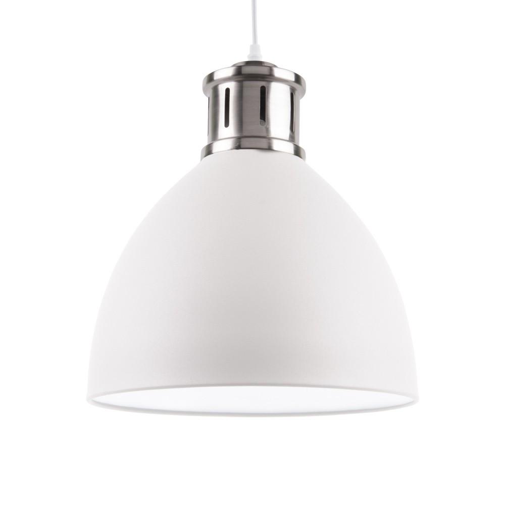 Biele závesné svietidlo s detailmi v striebornej farbe Leitmotiv Refine, ⌀ 33 cm