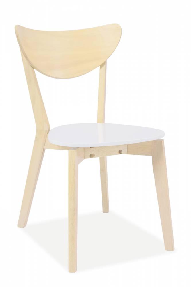 Jedálenská stolička CD-19 (dub biely)