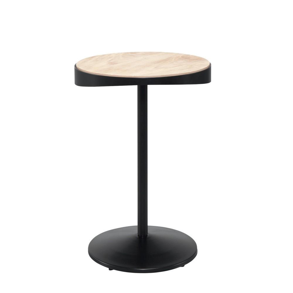 Odkladací stolík s doskou z dubového dreva Wewood - Portugues Joinery Drop, Ø 40 cm
