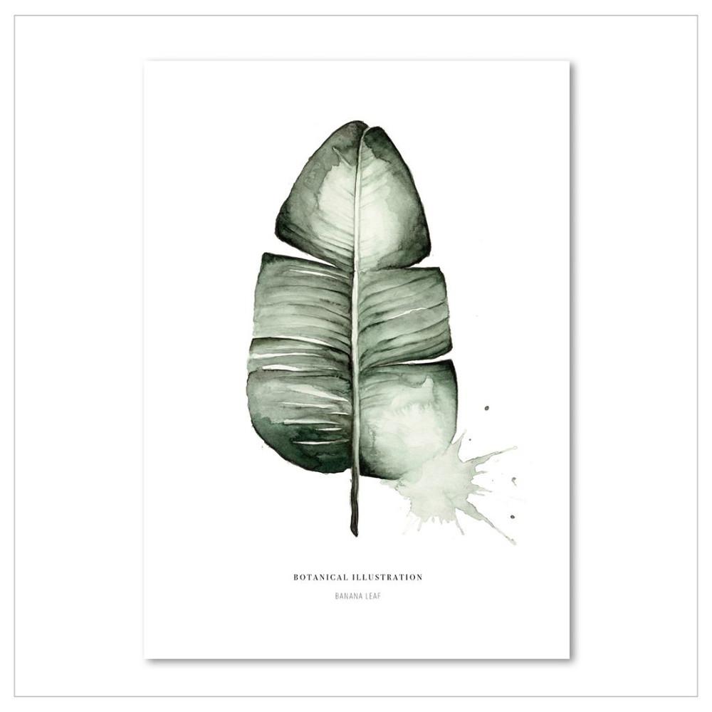 Plagát Leo La Douce Banana Leaf, 21x29,7cm