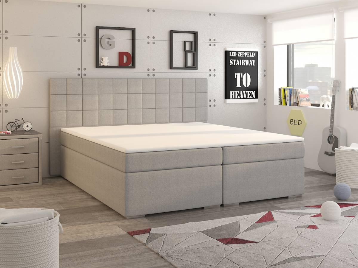 Manželská posteľ Boxspring 160 cm Tulsa (s matracmi)