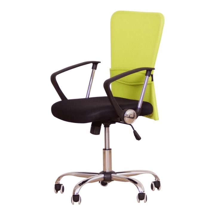 Kancelárska stolička AEX  ZELENA OPIERKA+CIERNY SED.