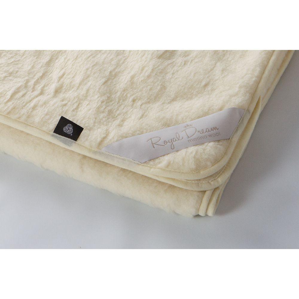 Béžová vlnená deka Royal Dream Merino, 140x200cm
