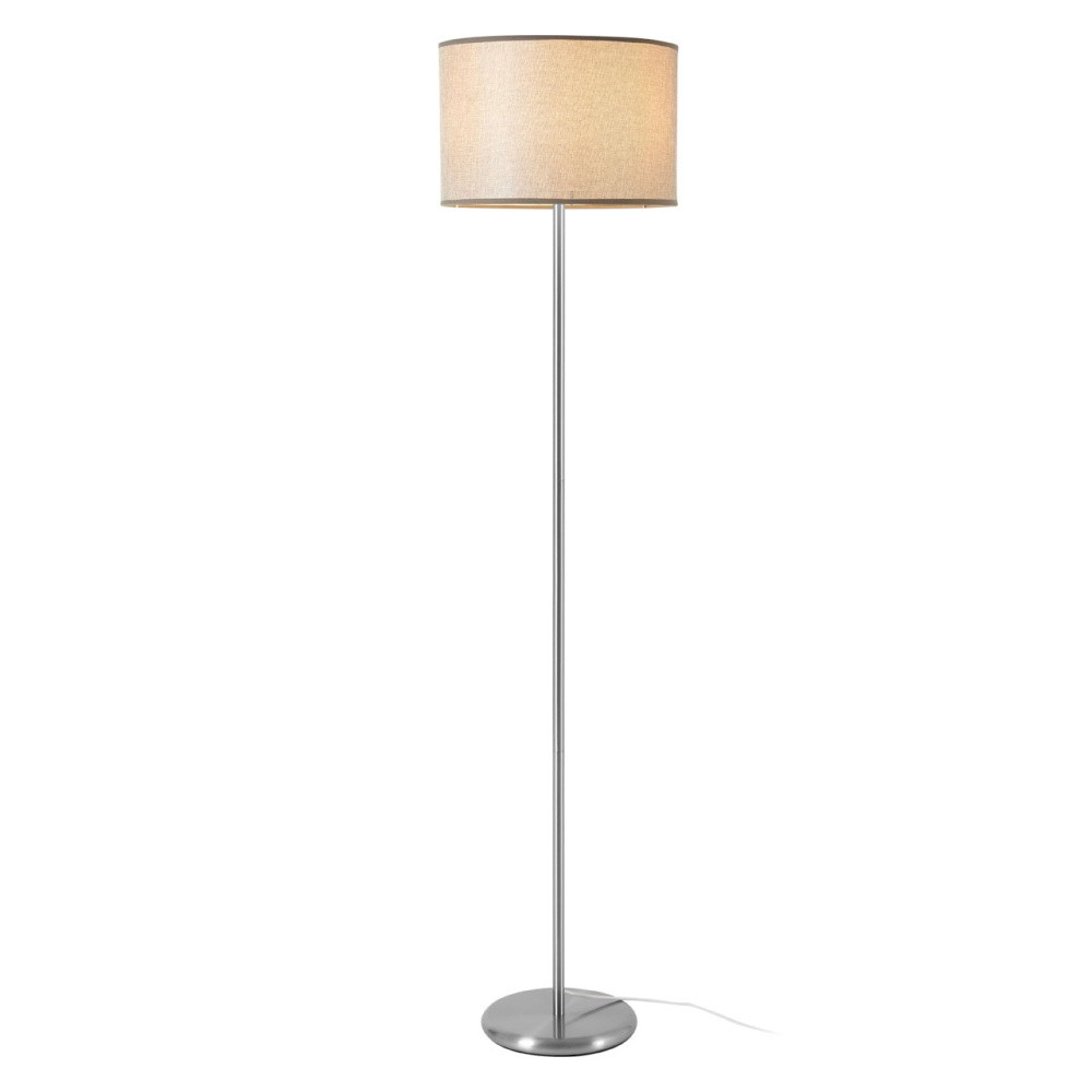 Stojacia lampa so sivým tienidlom Premier Housewares Forma Waffle