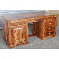 Písací stôl z masívu 160x65x76