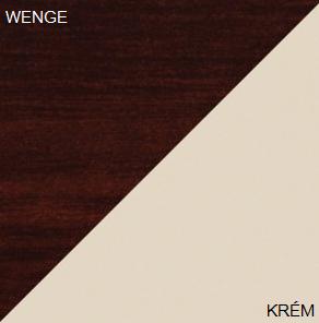 Manželská posteľ VIKI 11 / bez roštu   Farba: Wenge / krém