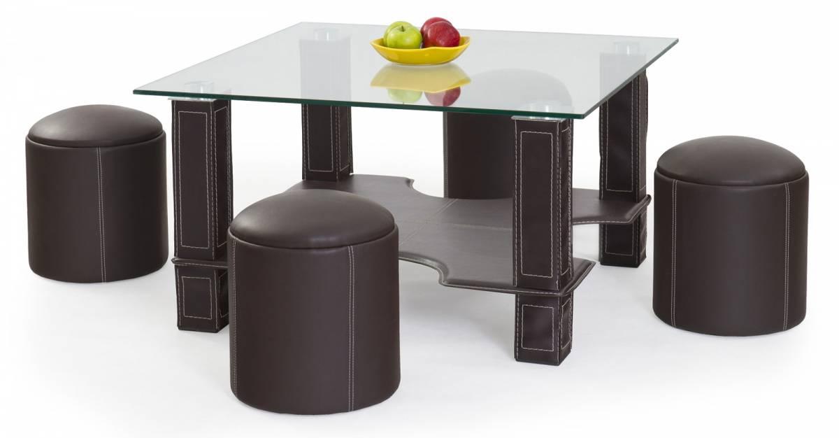 Konferenčný stolík Megan (s taburetkami)