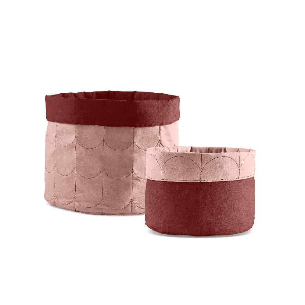 Sada 2 ružových úložných boxov Flexa Room