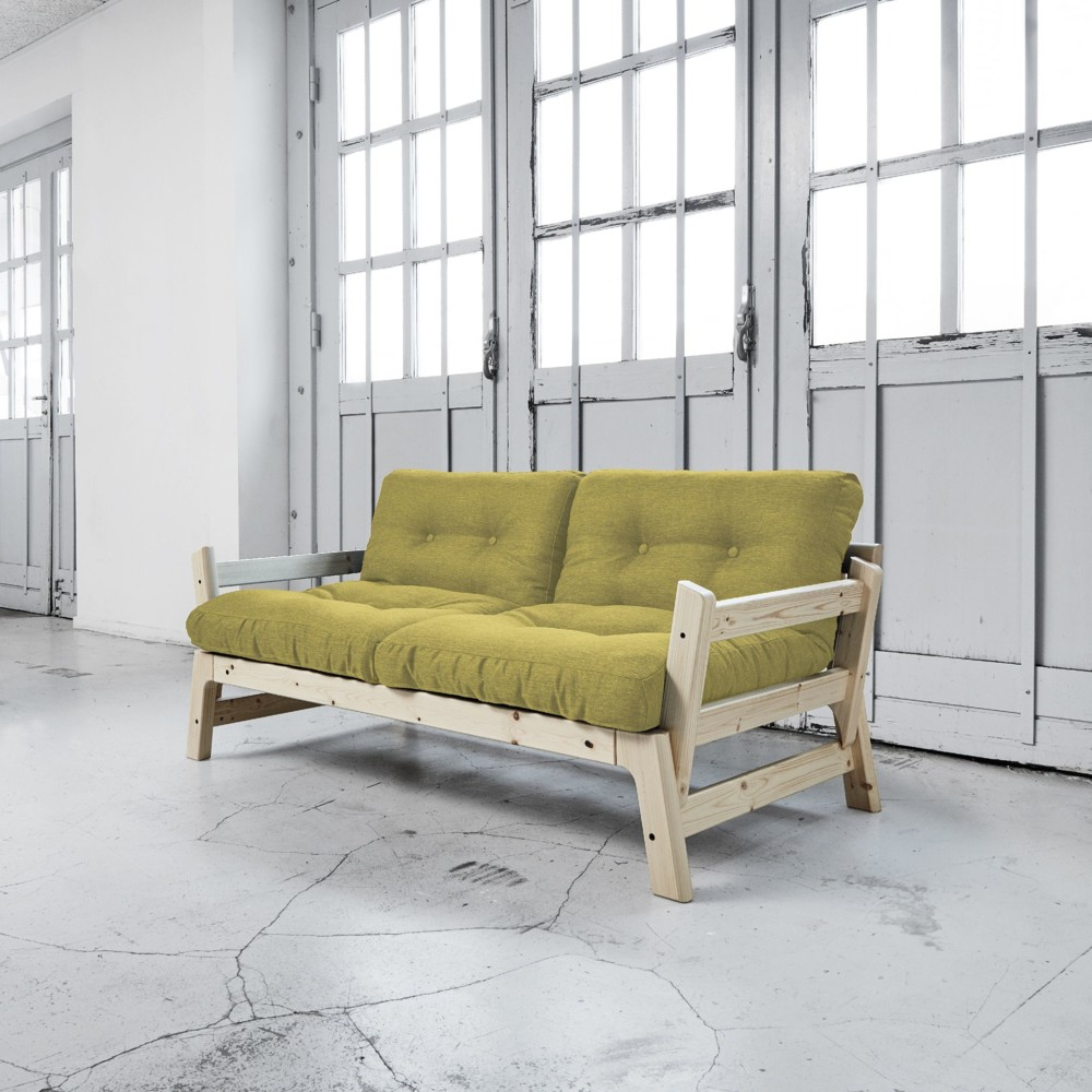 Rozkladacia pohovka Karup Step Natural/Avocado Green