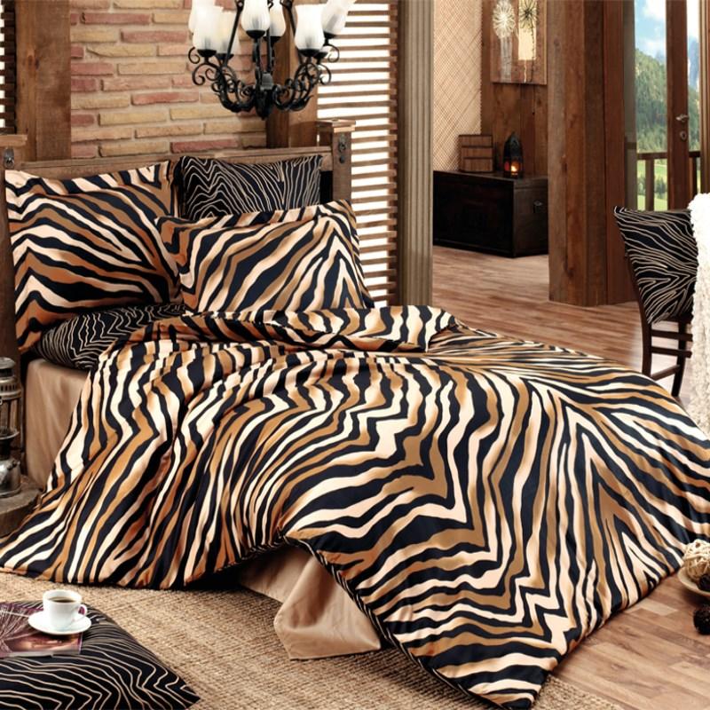 Dante Bavlnené obliečky Bengal hnedá, 140 x 200 cm, 70 x 90 cm